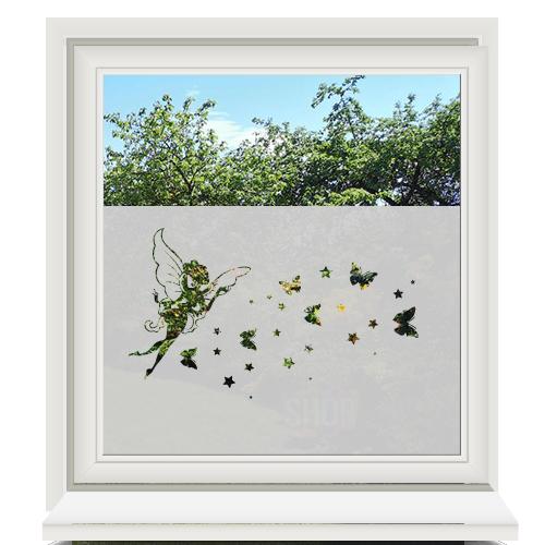 Zelfklevende raamfolie elfje en vlinders