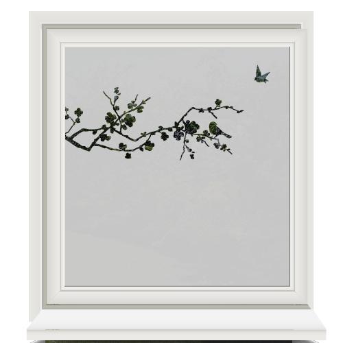 Raamfolie vogels en tak