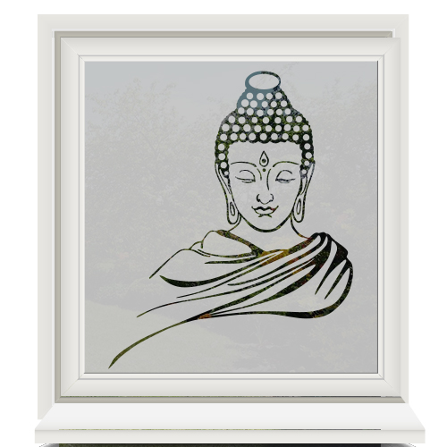 Zelfklevende raamfolie buddha