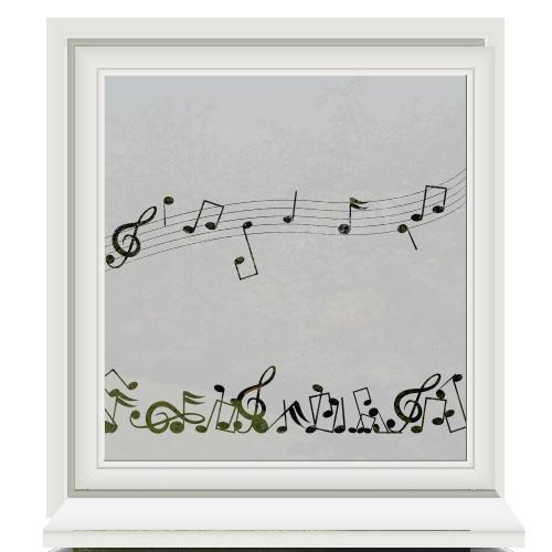 Raamfolie muzieknoten