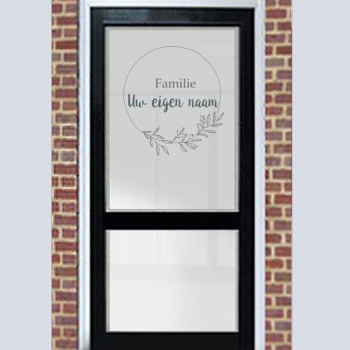 Raamfolie voordeur familienaam