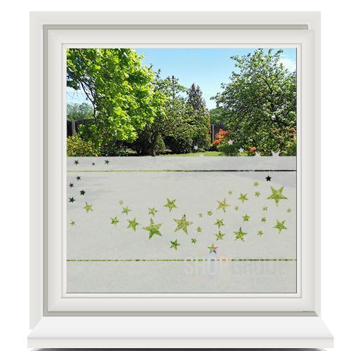 Zelfklevende raamfolie met sterretjes