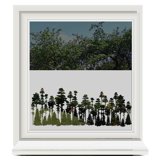 Zelfklevende raamfolie dennenbomen