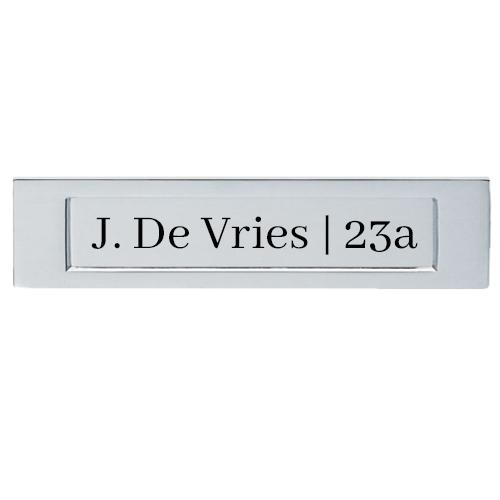 Klep brievenbus sticker naam