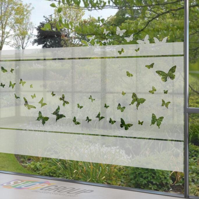 Zelfklevende raamfolie met vlinders