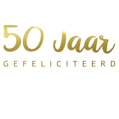 50 jaar gefeliciteerd sticker