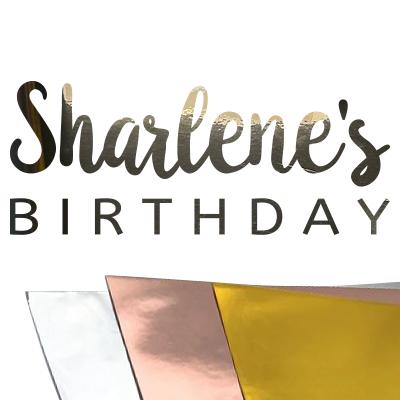 Verjaardag stickers met naam