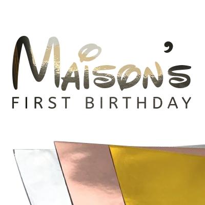 Verjaardag sticker met naam