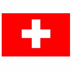 Vlag Zwitserland sticker | Landen vlaggenstickers