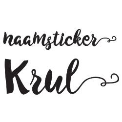 Sticker naam met krul