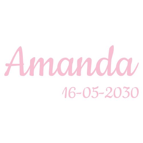 Tekst sticker met datum
