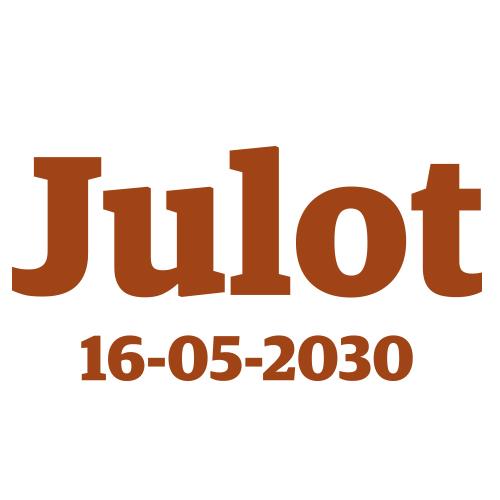 Sticker kindernaam met datum