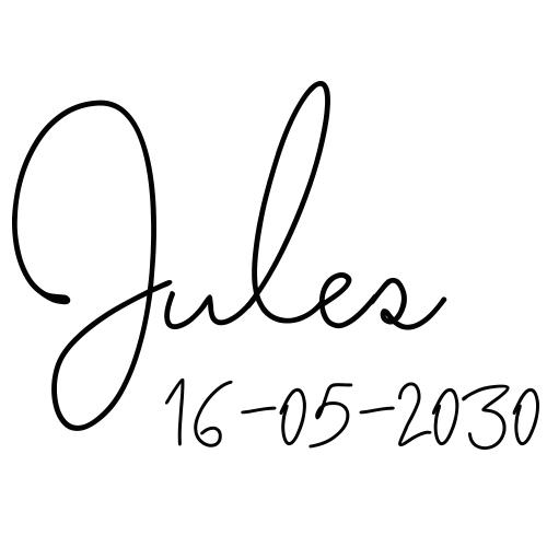 Sticker kinder naam met datum