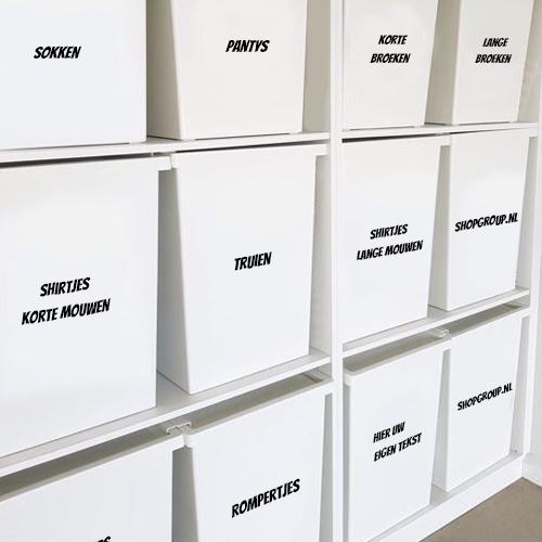 Vinyl stickers voor opbergboxen