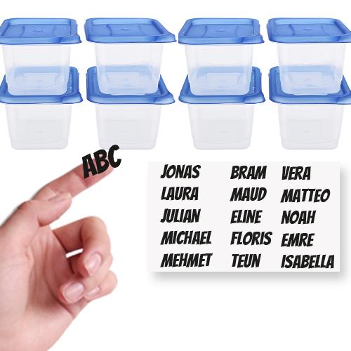 Stickers voor traktatie box met naam