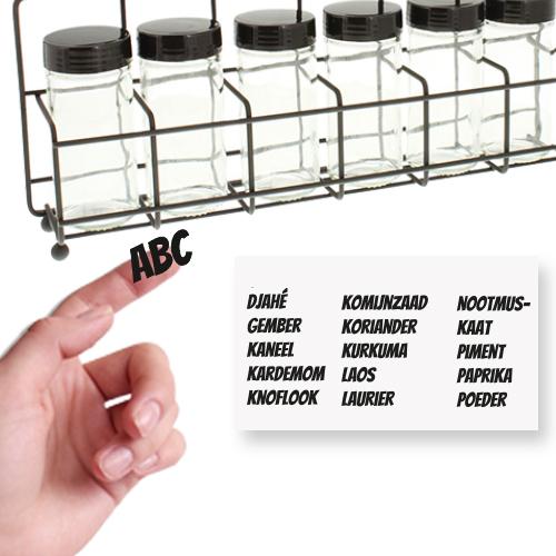 Vinyl stickers voor kruidenpotjes