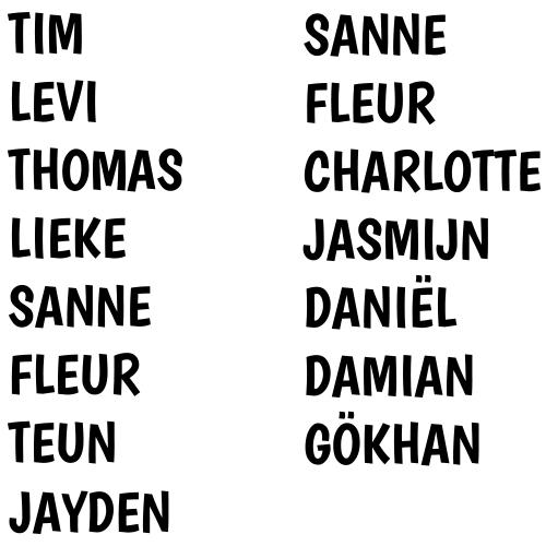 Sticker set namen