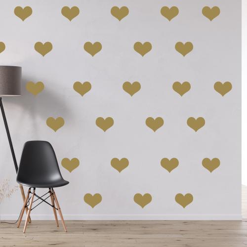 Gouden hartjes stickers