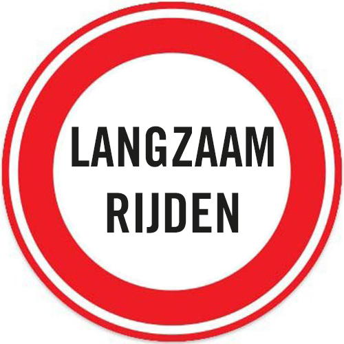 Langzaam rijden sticker