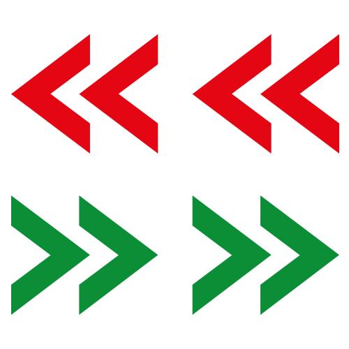 Pijlen Stickers – Looproute - Patroon stickervellen