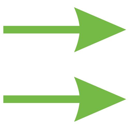 Pijl stickers – Bewegwijzering stickervellen