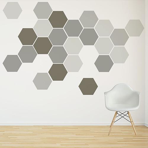 Hexagon muurstickers