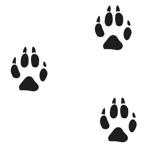 Stickers pootafdrukken – Patroon stickervellen