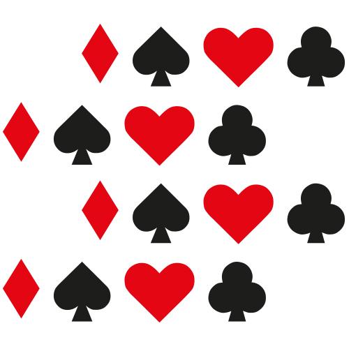 Kaartspel symbolen stickers