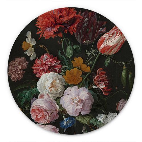 Wanddecoratie Stilleven met bloemen in een glazen vaas | Jan Davidsz. de Heem