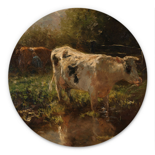Koe aan de slootkant | Willem Maris
