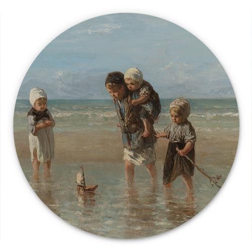 Wanddecoratie Kinderen der zee | Jozef Israëls