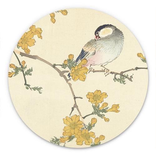 Wanddecoratie Zangvogel op bloeiende tak
