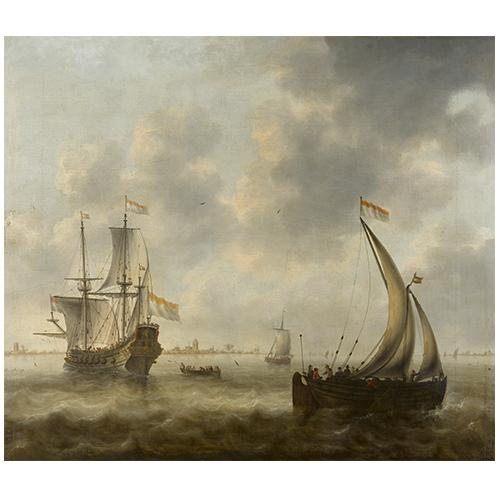 Riviergezicht met schepen | Jacob Adriaensz Bellevois