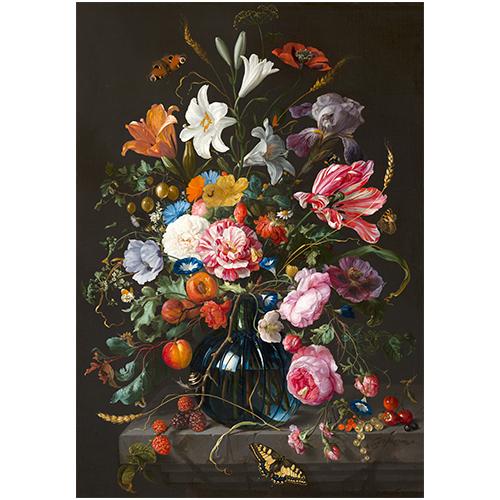 Wanddecoratie Vaas met bloemen | Jan Davidsz de Heem