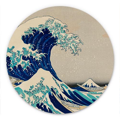 Wanddecoratie De grote golf bij Kanagawa | Katsushika Hokusai