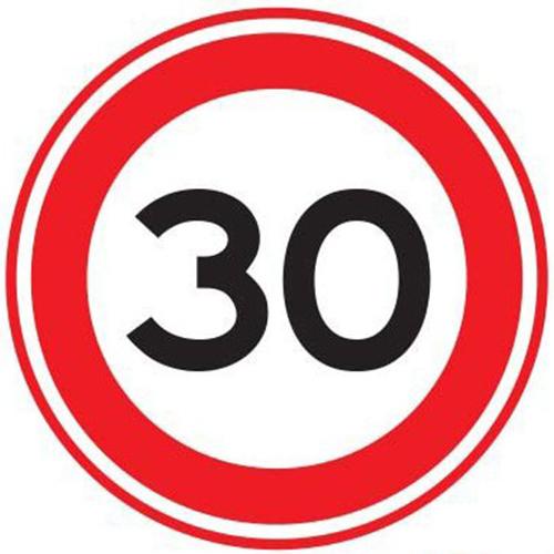 Maximumsnelheid verkeersbord sticker