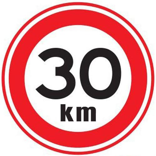 Maximaal 30 km sticker
