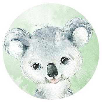 Muursticker Koala wandcirkel waterverf