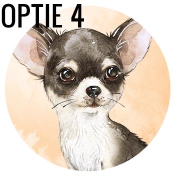 Muursticker Chihuahua wandcirkel waterverf