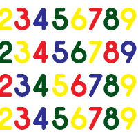 Herbruikbare cijfer raamstickers