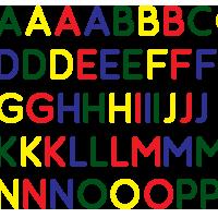 Alfabet raamstickers – herbruikbaar