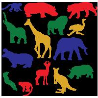 Statische stickers wilde dieren