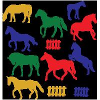 Autoplakkers paarden