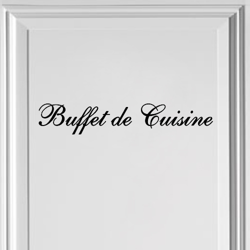 Buffetkast sticker Buffet de Cuisine
