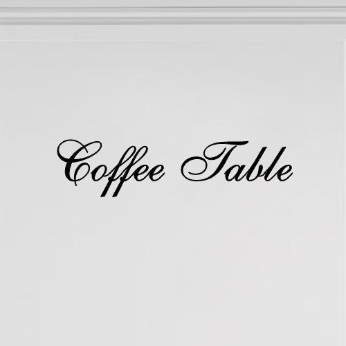 Meubeltekst Coffee Table