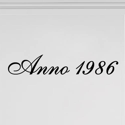 Sticker Anno met jaartal