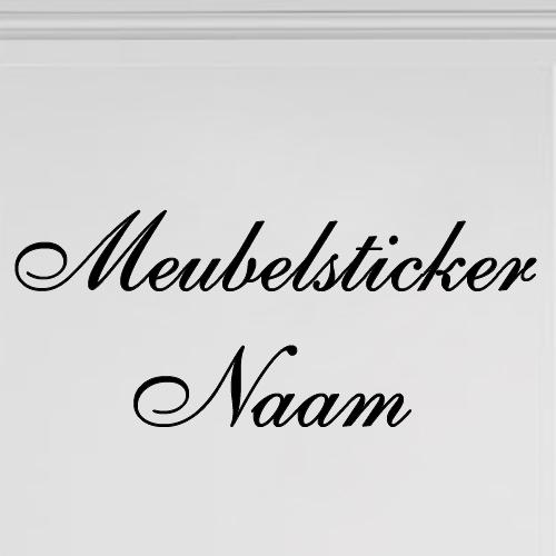 Meubelsticker naam