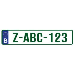 Groene plaat – Kentekenplaat sticker België