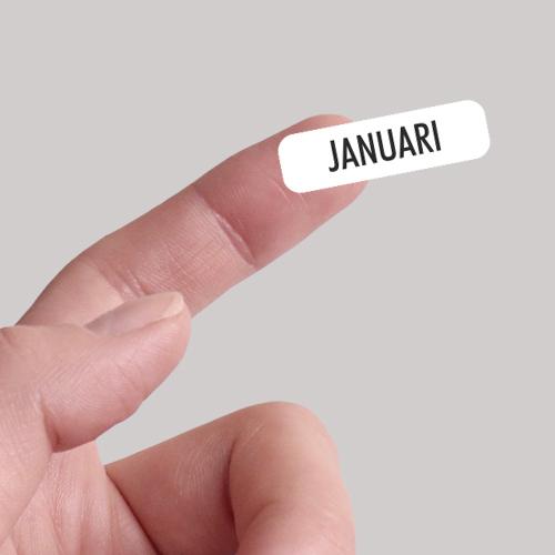 Datum maand stickers
