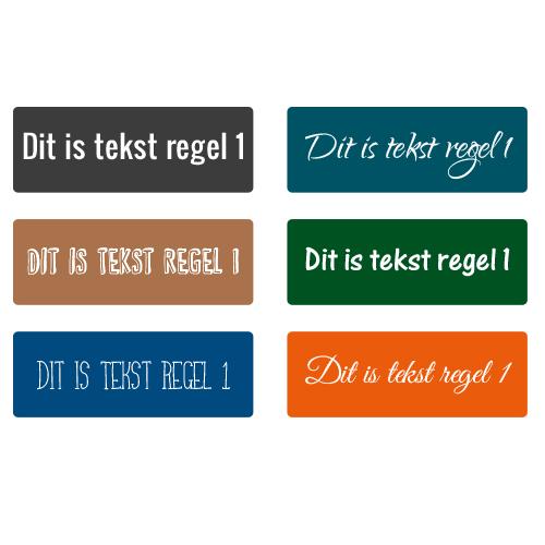 Naam stickers